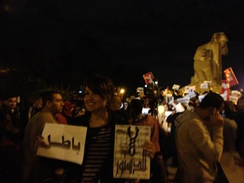 Gihan in Tahrir Square - Dec 2012 (post revolution)