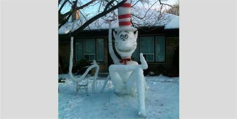 Cat in the Hat Snowcat