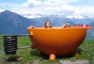 our hot tub does not look like this - but this one is styly