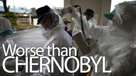 The radiation released around Fukushima from 3 meltdowns exceeds Chernobyl's