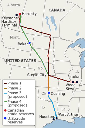 Keystone Pipeline - source wikipedia
