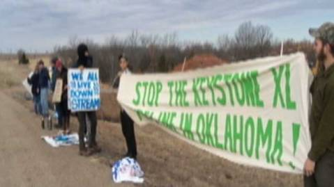 Keystone protesters in Oklahoma