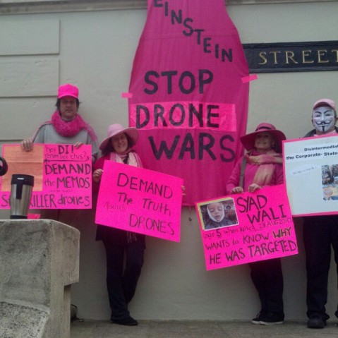 Giving Feiinstein a pink slip over drones