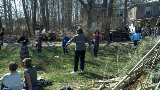 Hooping on land day (including Feonix in the back)