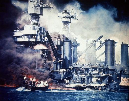 USS West Virginia one of many sunken ships at Pearl Harbor