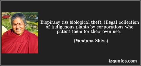 biopiracy