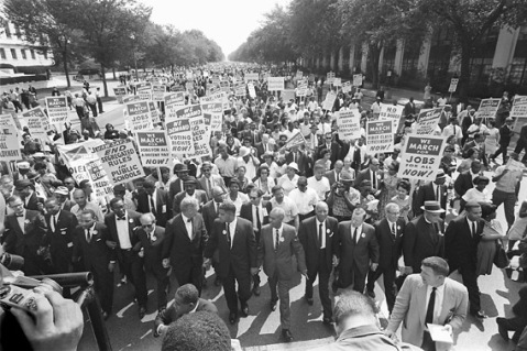 Civil Rights marchers Circa 1963