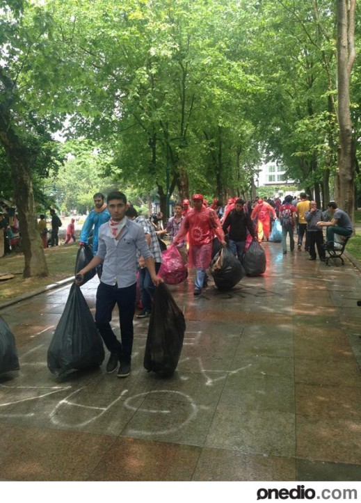 As in Tahrir and many Occupys, Gezi protesters clean their streets