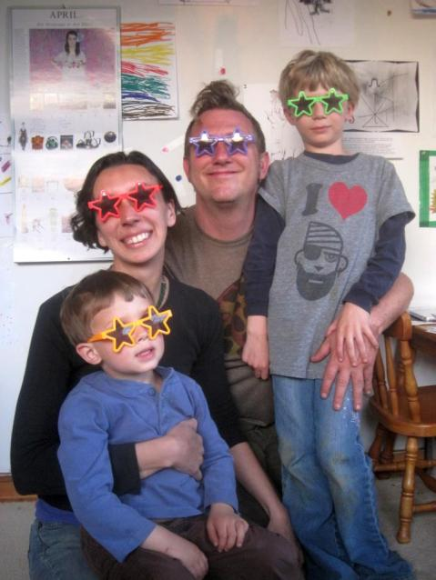 Mala, Ezra, Zadek and Sami - who says they see the world thru rosy glasses?