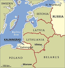 Kaliningrad is part of Russia without being connected to it.