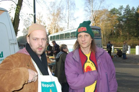 With Lucifer at Gorleben protest in Germany Circa 2008