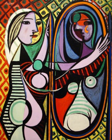 Picasso's girl in the mirror