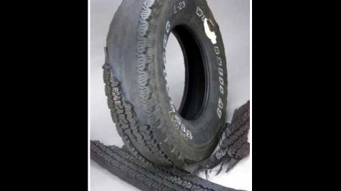 This is something like what the tire looked like.