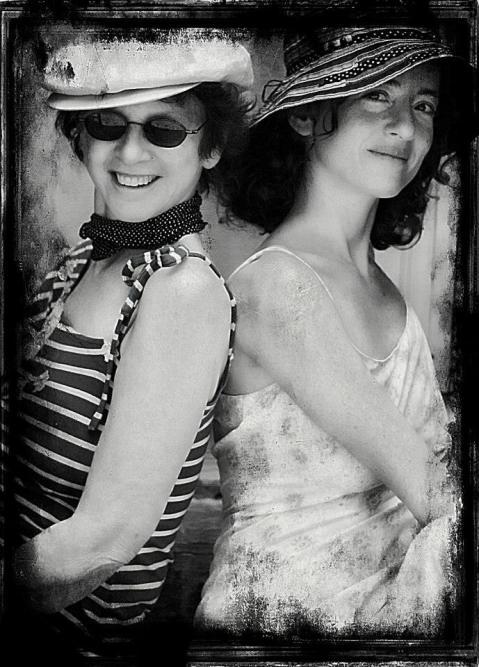R to L - Casandra and her Mom - circa 2013