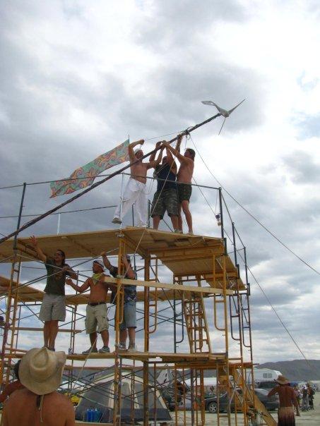 We hoped to replace the iwo jima photo with raising the windmill - Circa 2009