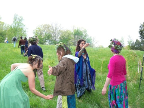 Smudging at May Day Circa 2013