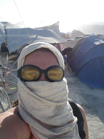 Caroline at Burning Man - circa 2009