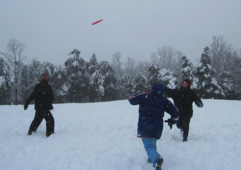 Nothing stops frisbee