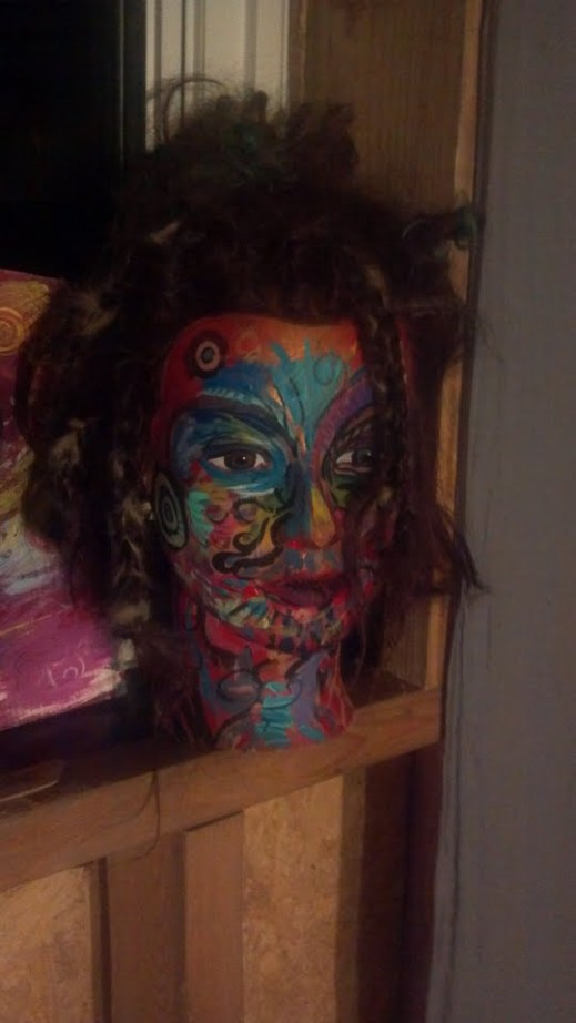 her hair went to adorn an art project
