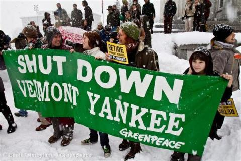 Closing VT yankee has been Greenpeace US top nuclear campaign goal for some years