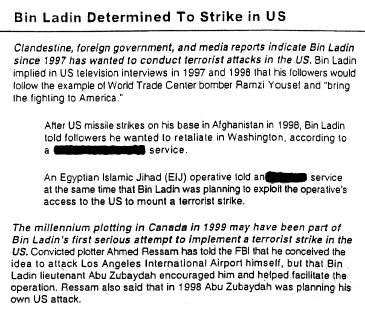 THE WTC is mentioned later as a possible target for these attacks