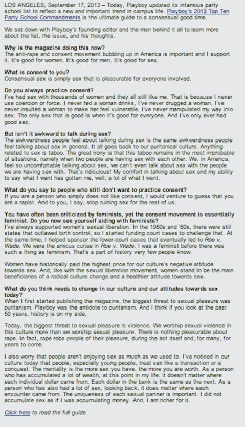 Hefner interview hack satire