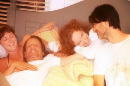 Poly propaganda picture - L 2 R Mac, me, Cassandra and Brian - Circa 2013