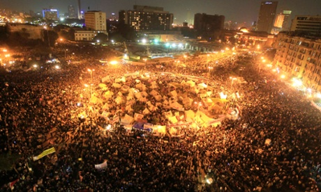 revolution at night - Tahrir Square circa 2011