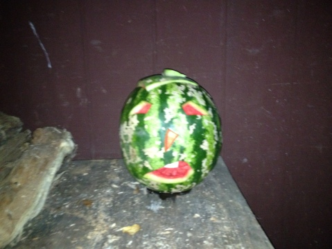 in absence of pumpkins we used watermelons