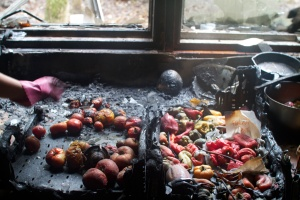 This is not the suggested method for making fire roasted red peppers