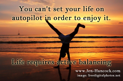 balancing leads to happiness