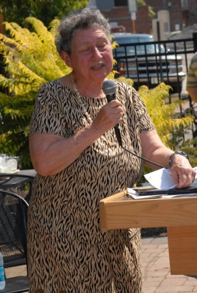 Piper spoke in public about literacy and our obligation to teach universally