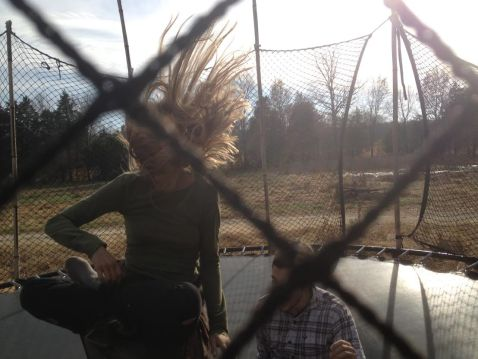 Guests defy gravity and enjoy trampoline