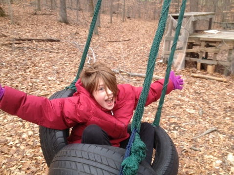 tire swing at playground of death and rebirth