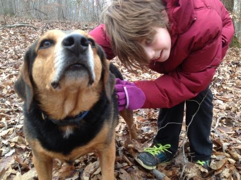 Kaya and dog Russell