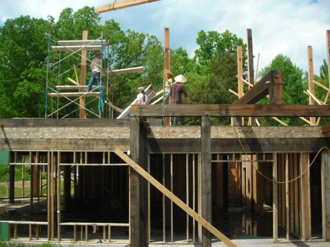 Construction of the second floor of the Ark (now completed) back in May