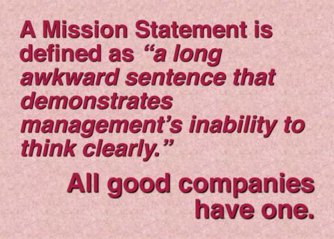 mission statement awkward