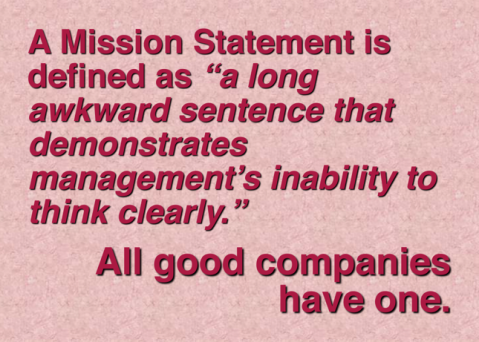 mission statement awkward