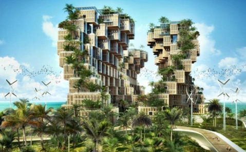 artists conception of one eco-village design