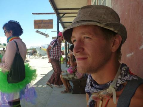 Lex at Burning Man