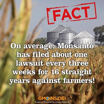 "In court Monsanto was incredulous at the claim they would sue farmers ""They are our customers"" they claimed."