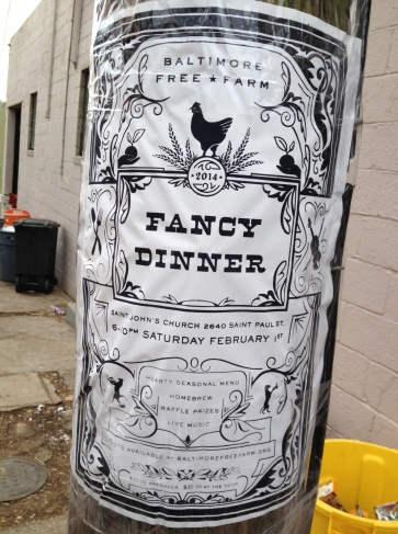 Fancy Dinner Poster outside BFF