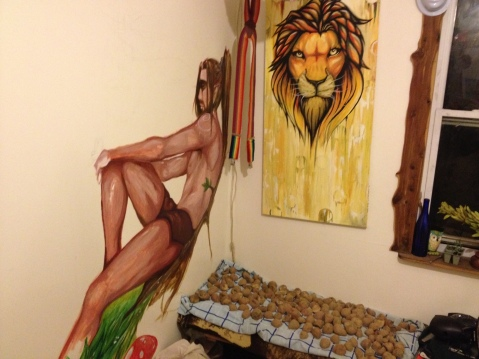 Tarzan, Lion and potatoes drying