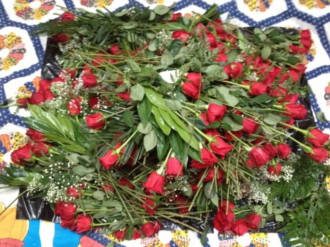 Thanks to the Keep for 20 dozen dumpstered roses