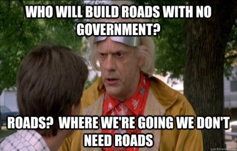 where we are going we dont need roads