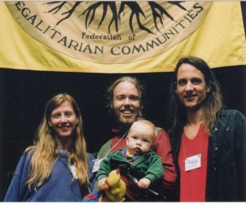 Willow's first Conference.  With organizers Valerie, Sky Blue and myself - circa 2003 Photo by Anissa