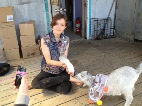 Grace guest fees a goat