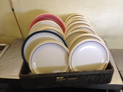 A mix of matched and unmatched dishes