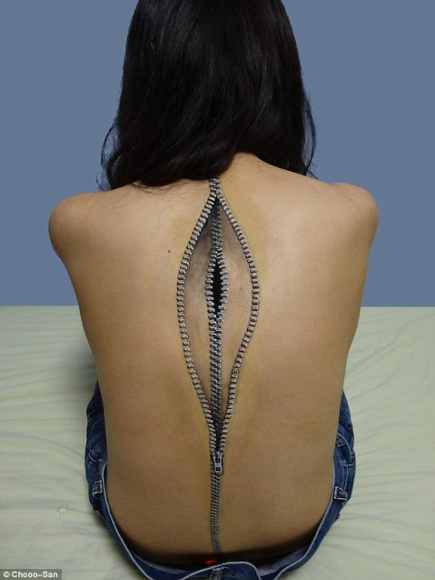 zippers-on-back-body-art