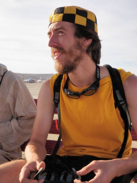 Taxi harness at Burning Man